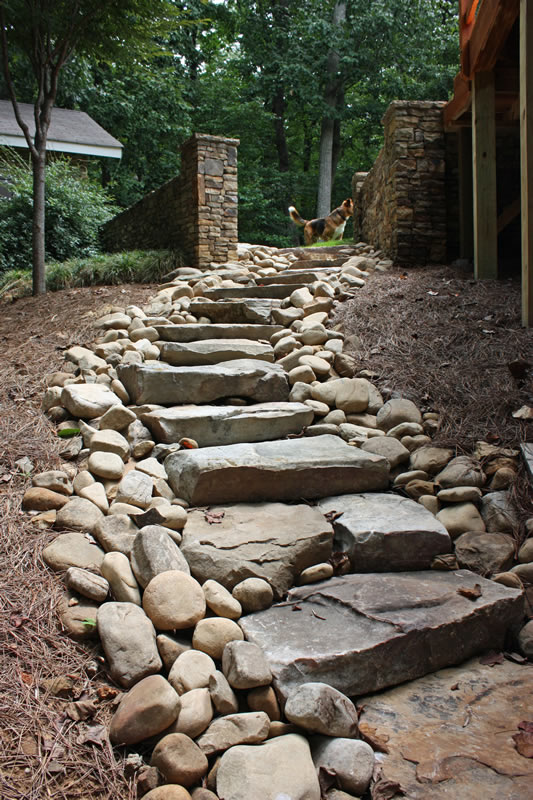 atlanta landscaping steps and stairs