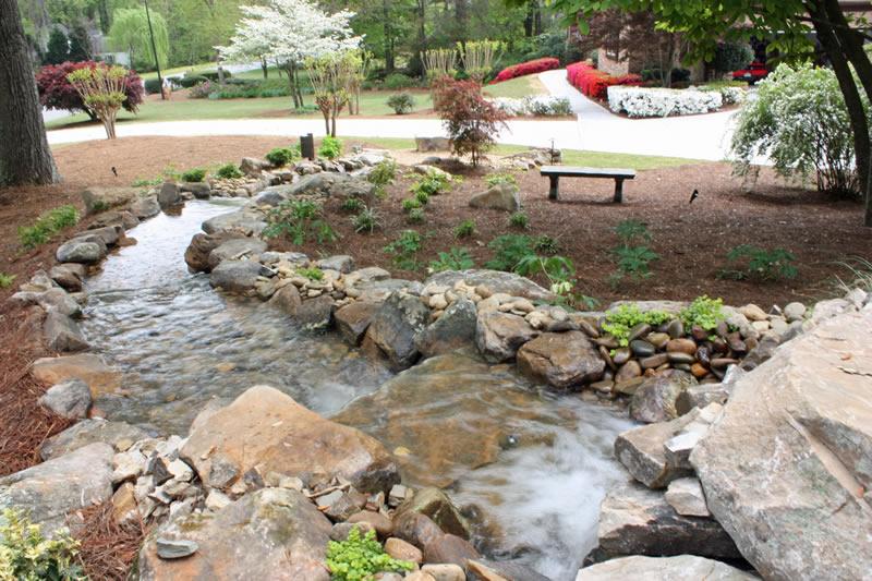 atlanta pondless waterfall design
