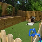 landscaping plants and artificial turf