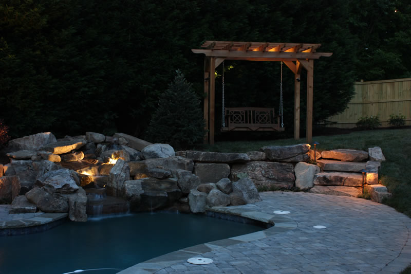 outdoor atlanta landscape lighting design