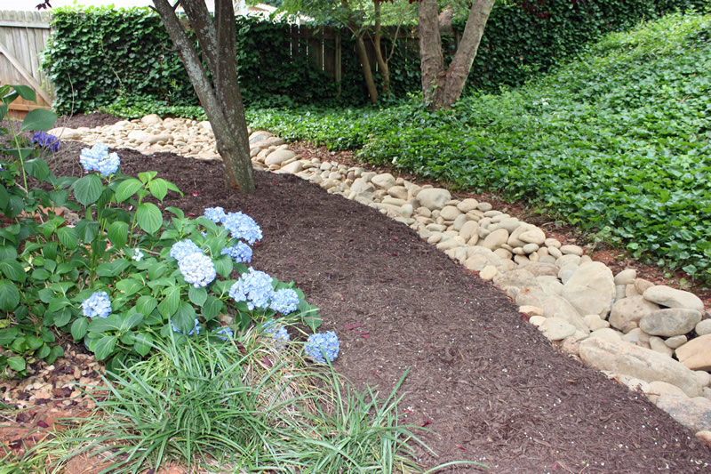 dry creek bed landscaping photo
