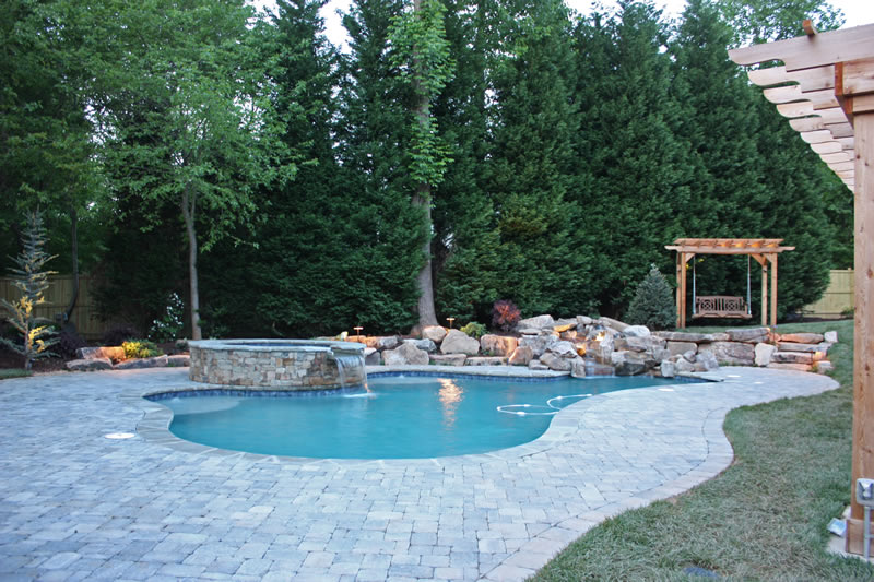 oakhurst backyard pool design