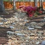 residential dry creek bed landscaping