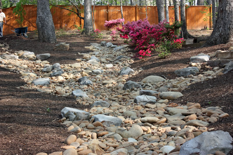 Dry Creek Bed Landscaping Shady Grove Landscape Company