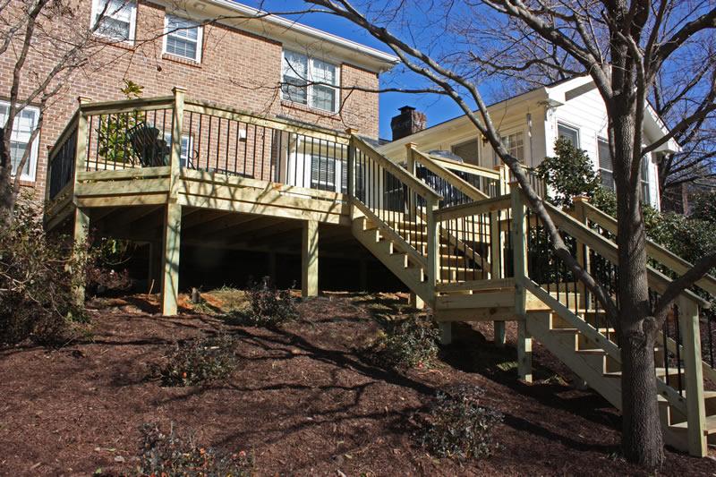 atlanta backyard deck design