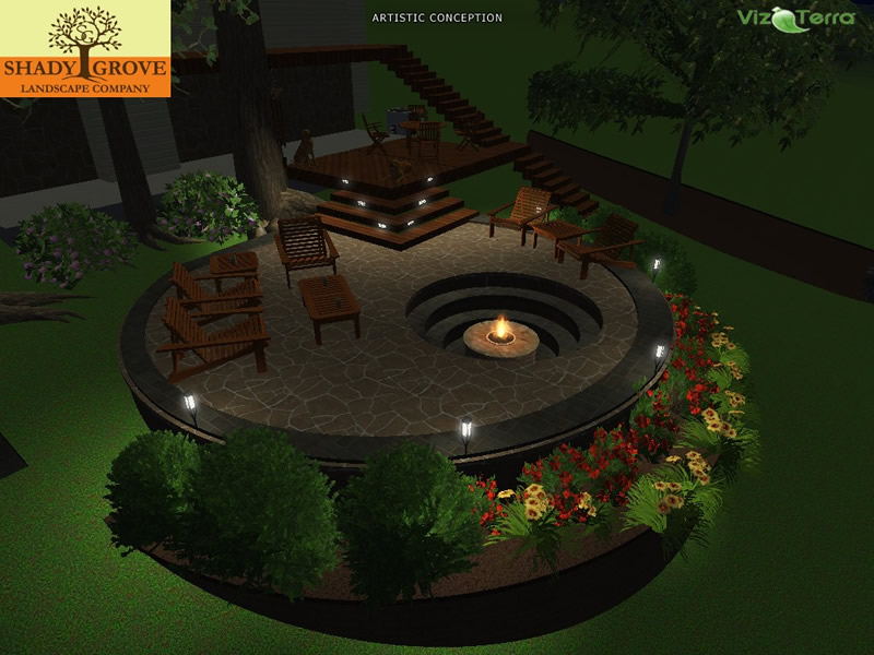 patio 3d landscape design