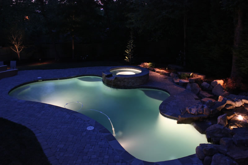 atlanta landscape lighting design for pools