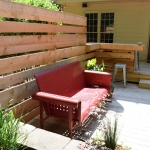wood landscaping fence