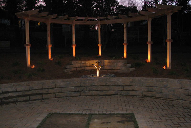 atlanta landscape lighting design for backyards