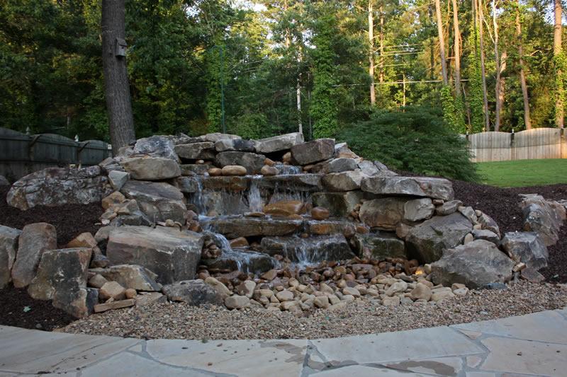 local pondless waterfall design