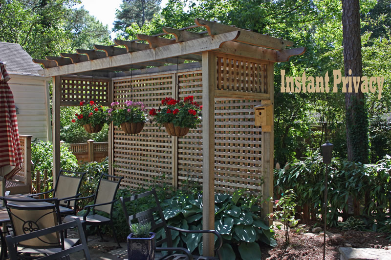 wood landscaping screen