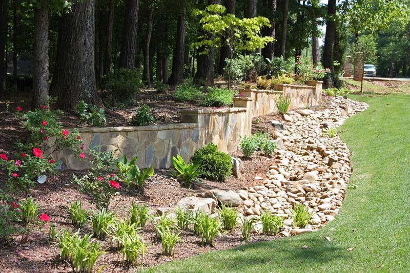 atlanta landscape drainage walkway