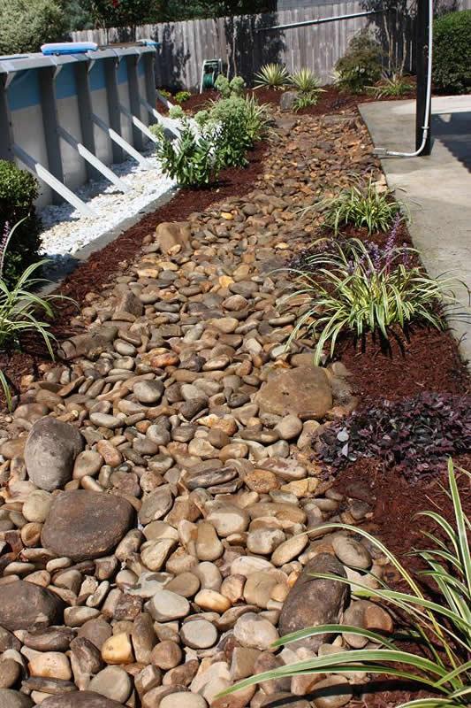 drainage walkway landscaping
