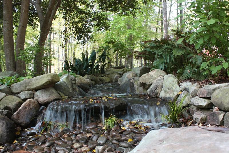 pondless waterfall installation