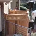 wood landscape fence