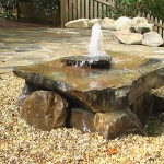 landscape water features and dripping rocks