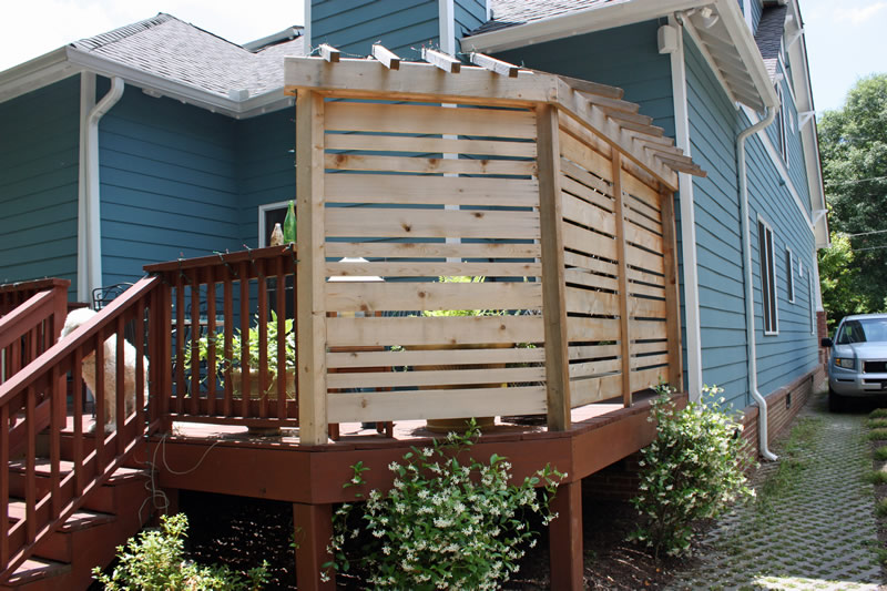 backyard landscaping screen