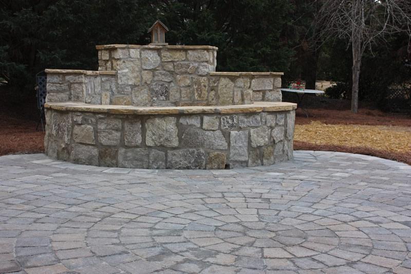 atlanta outdoor fireplace design