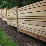 wood landscaping wall