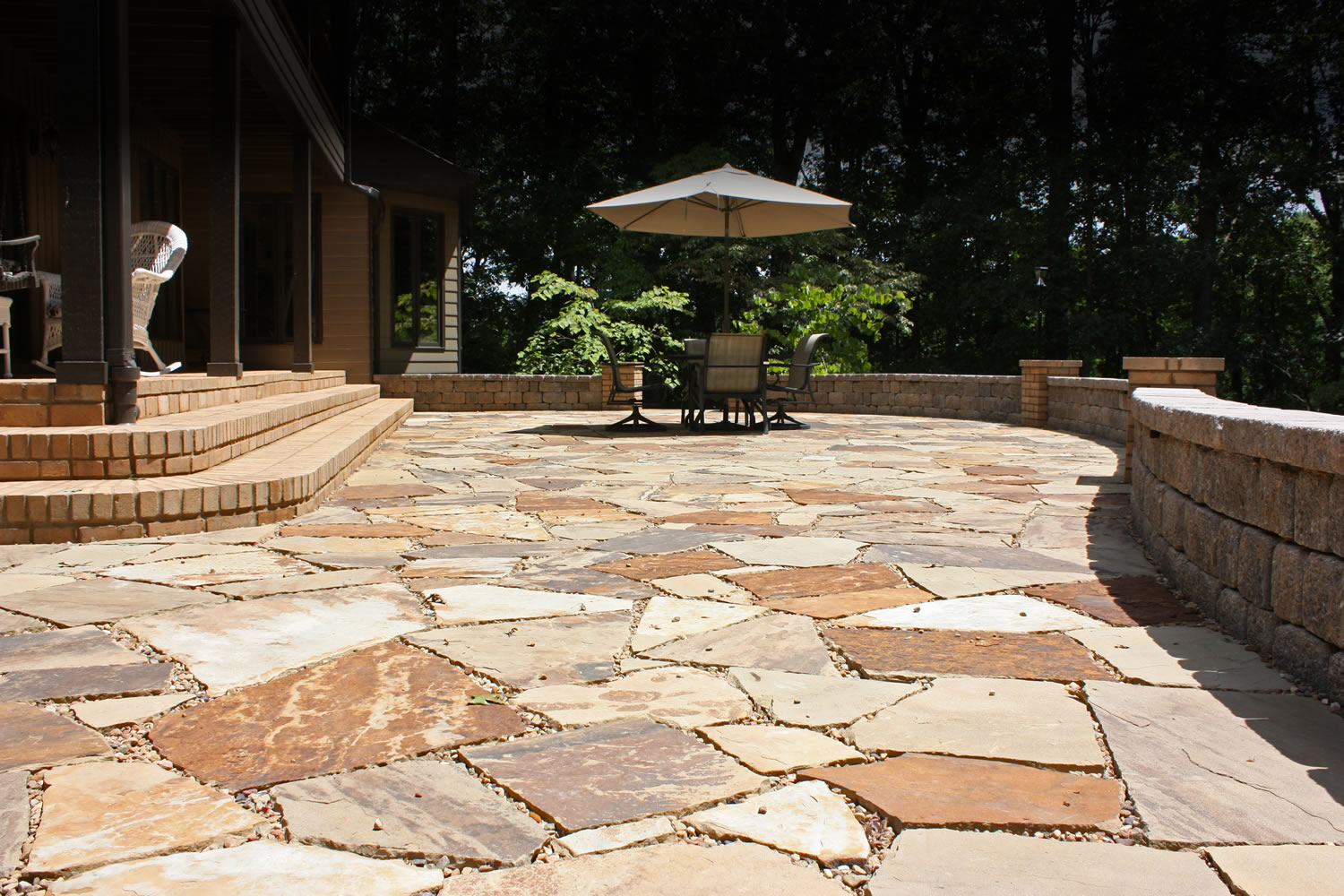 atlanta landscape design, natural stone patio