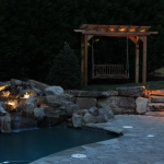 wood landscaping features