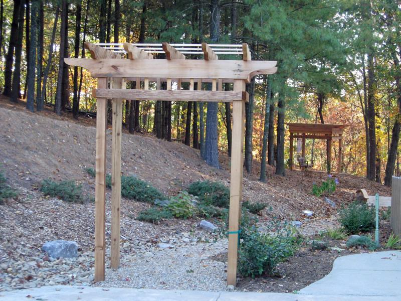 backyard arbor design