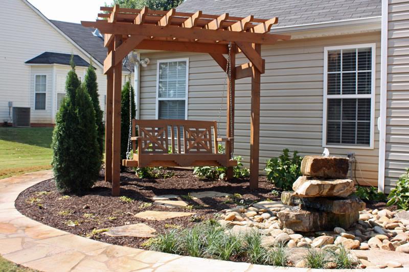 wood arbor design